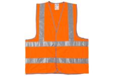 Жилет сигнальный STAYER MASTER, размер XL (50-52) + наклейка Шипы в подарок, оранжевый