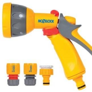 Комплект для полива HoZelock Spray Starter Set: пистолет-распылитель, 2 коннектора, штуцер Фотография_0