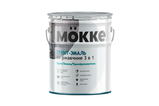 Грунт-эмаль Mokke по ржавчине 3 в 1, белая (20 кг)