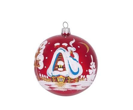 Шар Елочка Ночь перед рождеством С622, стекло Фотография_0