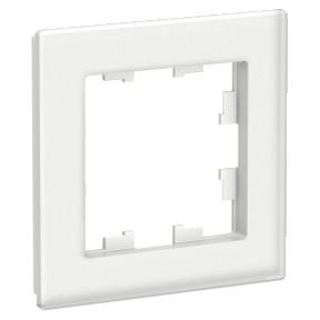 Рамка ATLAS 1-постовая, белая, матовое органическое стекло (Schneider Electric) Фотография_0