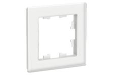 Рамка ATLAS 1-постовая, белая, матовое органическое стекло (Schneider Electric)