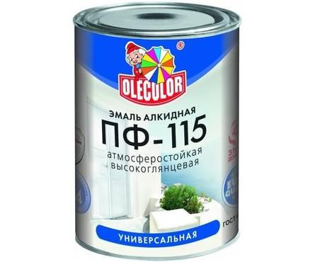 Эмаль вишневая Олеколор  ПФ-115 2,7 кг