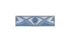 Фриз Березакерамика Елена Лотос 200х70 мм, синий