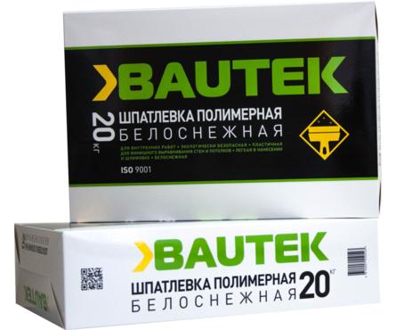 Шпатлевка BAUTEK полимерная, белоснежная, 20 кг Фотография_0