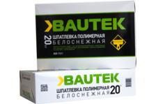 Шпатлевка BAUTEK полимерная, белоснежная, 20 кг