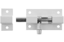 Задвижка накладная ШП-60 БЦ цвет белый/цинк 60мм 37751-60