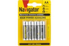 Элемент питания Navigator алкалиновая R06 АА (4 штуки)