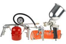 Набор пневматический STAYER MASTER унив: краскораспылитель с верх бачком, пистолеты, пневм. шланг