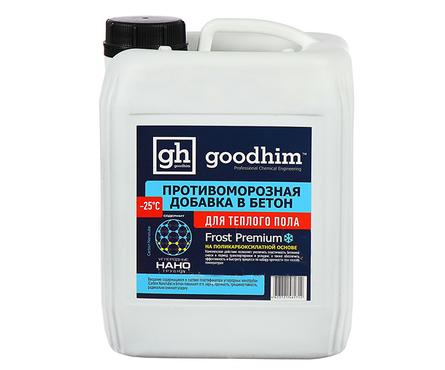 Противоморозная добавка Goodhim Frost Premium до -25°С для теплого пола с пластификатором (10 л) Фотография_0