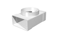 Соединитель T-образный прямоугольного воздуховода 60х120 с выходом на фланцевые распределители D100