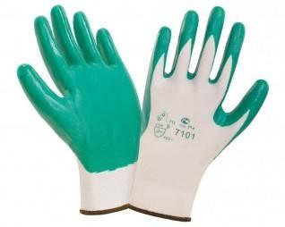 Перчатки нитриловые 2Hands SafeFlex с легким покрытием  Фотография_0