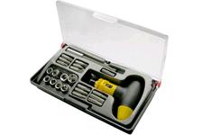 Отвертки набор 8 шт, сталь S2, сине-желтая ручка, Профи