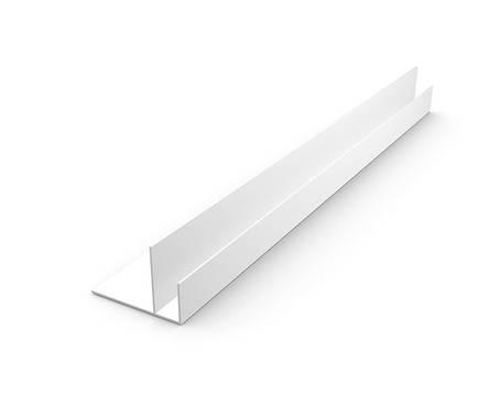 ПВХ Профиль д/панелей F-образный Белый 3м