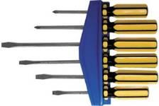 Отвертка  CrV,+ --шлиц 75,100,150мм (набор 6 шт)
