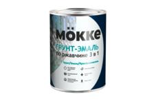 Грунт-эмаль Mokke по ржавчине 3 в 1, синяя (0.9 кг)