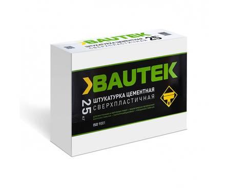 Штукатурка BAUTEK Цементная сверхпластичная, 25 кг Фотография_0