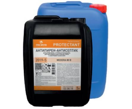 Антисептик-антипирен MEDERA 80 А ( II группа огнезащиты) 5 л Фотография_0