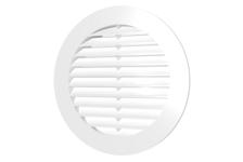 Решетка наружная приточно-вытяжная круглая D150 с фланцем D125 белая