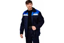 Костюм ВОСХОД (куртка + брюки) смесовая ткань цвет синий-василек (104-108/170-176)