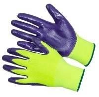 Перчатки нейлоновые с нитрильно-латексным покрытием Фотография_0