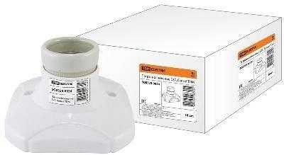 Патрон-основание, керамический E27, белый TDM Фотография_0