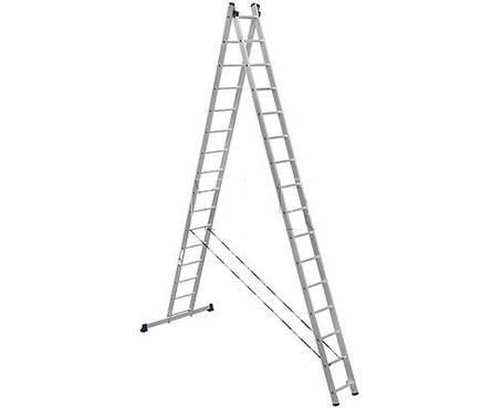 Лестница алюм. 2-х секц.16 ступеней HS2 6216 (высота 451/815 см, вес 19.60 кг)