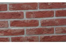 Гипсовая плитка Старый кирпич 100-08 красно-коричневый, 4.7х19 см, 1.1м2, (96 штук)