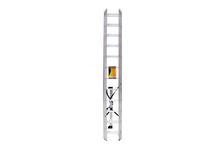 Лестница алюминиевая Вихрь ЛА 3х12, 3-секционная, 12 ступеней