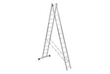 Лестница алюм. 2-х секц.14 ступеней H2 5214 (высота 394/674 см, вес 13,50 кг)