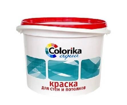 Краска ВД Colorika Agua для стен и потолков белая 7 кг