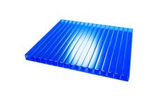 Сотовый поликарбонат CARBOGLASS Кристалл 4 мм, синий, 12 x 2,1 м