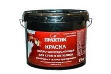 Краска ВД ПРАКТИК водно-дисперсионная для стен и потолков ВЛАГОСТОЙКАЯ 7 кг