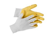 Перчатки трикотажные  STAYER MASTER обливная ладонь из латекса, х/б 13 кл., размер L-XL