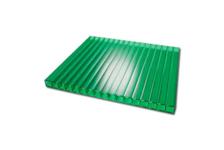 Поликарбонат сотовый Кристалл 6000 / 2100 / 4 мм, зеленый