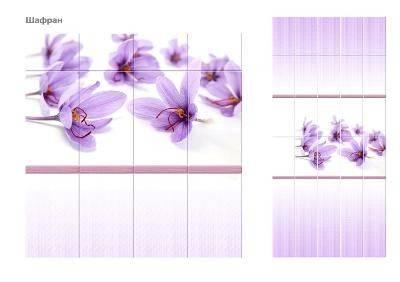 ПВХ Панель UNIQUE 3D 2700*250*8мм Шафран Фон