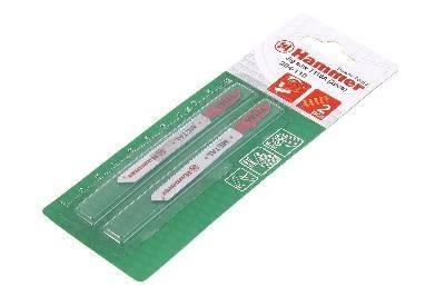 Набор пилок для лобзика Hammer Flex 204-110 JG MT T118A (2pcs) металл, 67мм, шаг 1.1-1.5, HSS, 2шт