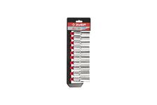 Набор ЗУБР Мастер: торцовые головки (1/2) удлиненные на пласт. рельсе, Cr-V, 10-19 мм, 10 предметов