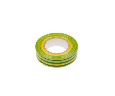 Изолента ПВХ желто-зеленая 19мм*20м