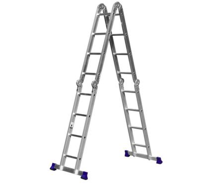 Лестница-трансформер СИБИН ЛТ-44, алюминиевая 4х4 ст. Фотография_0