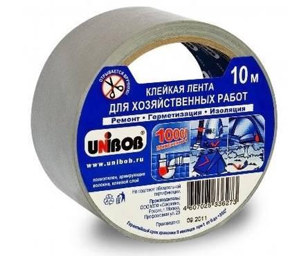 Скотч армированный 48 мм*10 м для хозяйственных работ UNIBOB (36шт/уп)