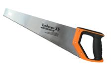 Ножовка по дереву Bohrer 450 мм, сталь 65 Mn, каленные зубья, 2D заточка, шаг 7 TPI, двухкомпонентная рукоятка