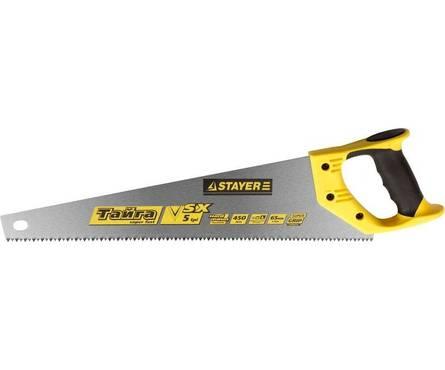 Ножовка по дереву STAYER MASTER ТАЙГА-7 400мм, пласт. ручка, прямой крупный зуб