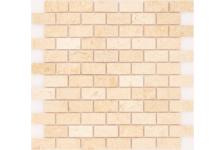 Мозаика Caramelle Mosaic Pietrine Botticino полированная, 298х298х4 мм, чип 23х48 мм