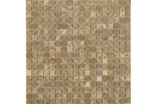 Мозаика Caramelle Mosaic Pietrine Emperador Light матовая, 305х305х4 мм, чип 15х15 мм