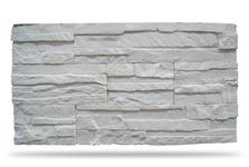 Гипсовая плитка Сланец плоский 400-00  (белый) 9,5х15 см