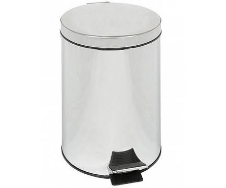 Контейнер д/мус 12л CRYSTA для ванной металл хром