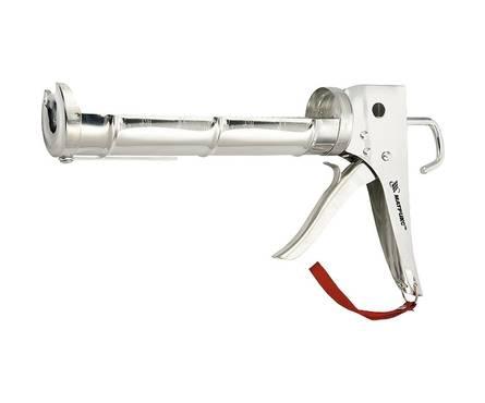 Пистолет для герметика MATRIX, 310 мл, полуоткрытый, хромир., зубчатый шток 7 мм Фотография_0