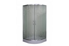 Душевой угол Parly Z91 900х900х1950 мм, высокий поддон, матовое стекло с рисунком
