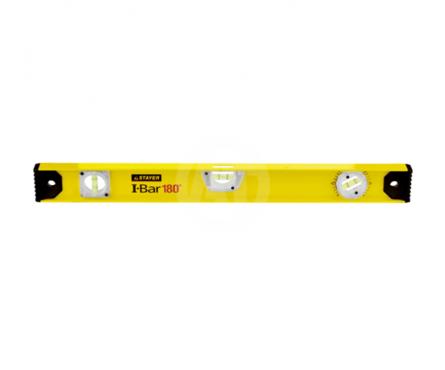 Уровень STAYER MASTER I-Bar рельс двутавровый, 60 см, 3 ампулы (1 поворотная на 360 °C), линейка Фотография_0
